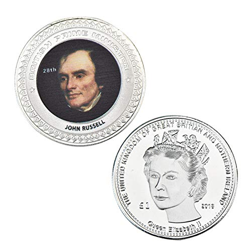 LSJTZ United Kingdom, 1-51, Prime Minister, Commemorative Coin, Collection, Fine, Wooden Box, History, Silver Plated, Challenge Coin, Exhibition Cabinet